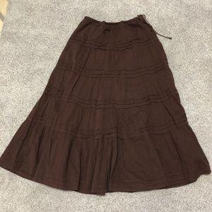 Gap Vintage Prairie Tiered Rayon Maxi Skirt